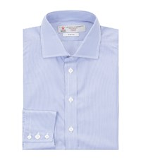 Turnbull And Asser Slim Fit Cotton Shirt Blue