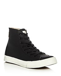 Saturdays Surf Nyc Mike Waxed Canvas High Top Sneakers Black