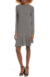 Fire Women's Stripe Mock Neck Dress
