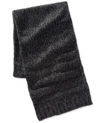 Ryan Seacrest Distinction Men's Icelandic Yarn Scarf Only At Macy's Charcoal White