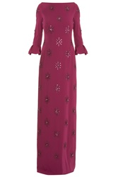 Jenny Packham 3 4 Sleeve Floral Sequin Gown