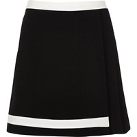 River Island Womens Black Pleated Mini Skirt With White Trim