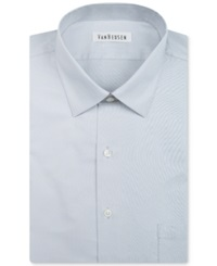 Van Heusen Herringbone Solid Dress Shirt Silver