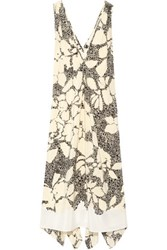 By Malene Birger Quinesa Printed Silk Crepe Dress Cream