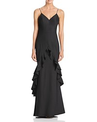 Jarlo Ruffle Trim Gown Black