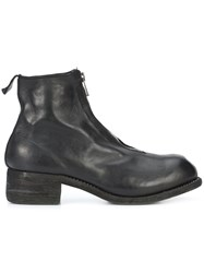 Guidi Zipped Ankle Boots Horse Leather Black