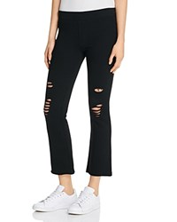 Pam And Gela Cropped Flare Pants Black