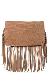 Elliott Lucca Fringe Convertible Leather Clutch