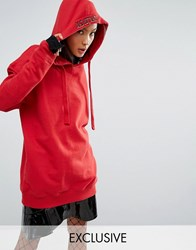 Mad But Magic Hoodie With Slogan Hood Red