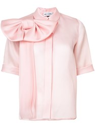 Dice Kayek Bow Embellished Blouse Pink And Purple