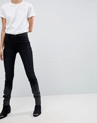 Selected Washed Skinny Jeans Black