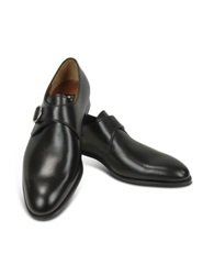 Fratelli Rossetti Black Calf Leather Monk Strap Shoes