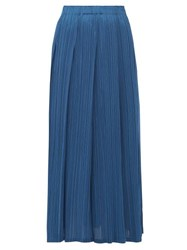 Issey Miyake Pleats Please Monthly Colours Pleated Midi Skirt Blue