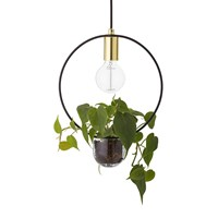 Bloomingville Pendant Lamp With Plant Holder Gold