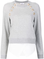 Derek Lam 10 Crosby Button Detailing Sweatshirt Grey