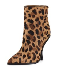 Sigerson Morrison Hong Leopard Print Point Toe Boot