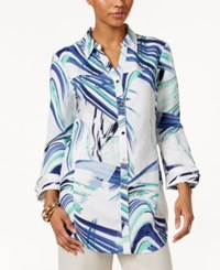 Jm Collection Printed Shirt Only At Macy's Studio Bright Mint