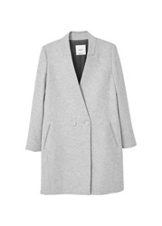 Mango Unstructured Wool Blend Coat Grey