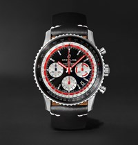 Breitling Navitimer B01 Swissair Automatic Chronograph 43Mm Stainless Steel And Leather Watch Black