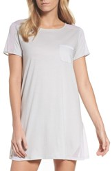Naked Women's Cotton Sleep Shirt Soft Gray