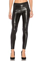 David Lerner Quilted Vegan Leather Legging Black