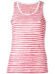 Majestic Filatures Striped Tank Top Red