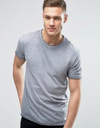 Solid T Shirt In Faded Stripe 2325 Grey