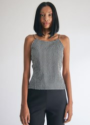 Maryam Nassir Zadeh Thea Top In Black Check Size 0