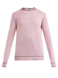 Marni Buttoned Back Cashmere Sweater Light Pink
