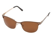Suncloud Polarized Optics Causeway Brown Frame Brown Polarized Polycarbonate Lenses Fashion Sunglasses Gold