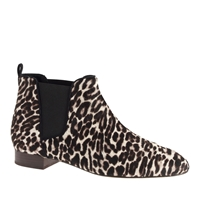 J.Crew Low Calf Hair Pull On Boots Black White