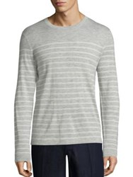 Polo Ralph Lauren Striped Cashmere Sweater Grey White