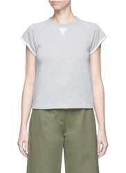 Alexander Wang Roll Cuff French Terry T Shirt Grey