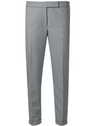 Thom Browne Heel Guard Pinstripe Skinny Trouser Grey
