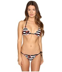 Proenza Schouler Triangle Bikini Set Persimmon Women's Swimwear Sets Orange