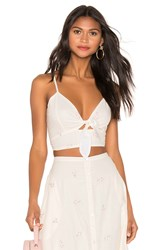 Cleobella Mara Crop Top White