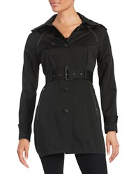 French Connection Belted Trench Coat Black