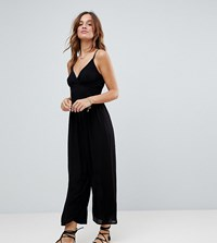 Akasa Exclusive Wide Leg Beach Jumpsuit In Black