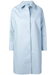 Mackintosh Classic Fitted Trench Coat Blue