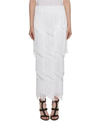 Tom Ford Tiered Fringe Maxi Skirt White