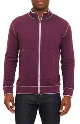 Robert Graham Men's Odyssey Reversible Zip Cardigan Purple