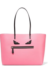 Fendi Roll Textured Leather Tote Baby Pink