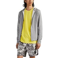 James Perse Double Faced Cotton Jersey Hoodie Gray