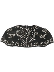 Michel Klein Studded Cape Black