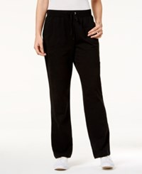Karen Scott Drawstring Lounge Pants Only At Macy's Deep Black