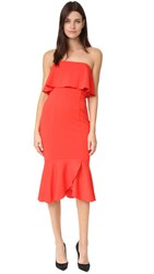 Nicholas Strapless Dress Red
