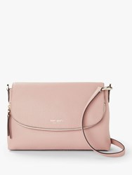 Kate Spade New York Polly Leather Large Flap Over Cross Body Bag Flapper Pink