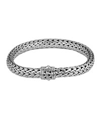 John Hardy Medium Chain Bracelet With Chain Clasp Silver