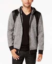 Inc International Concepts Men's Colorblocked Hoodie Created For Macy's Deep Black