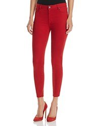 Parker Smith Ava Crop Skinny Jeans In Ruby